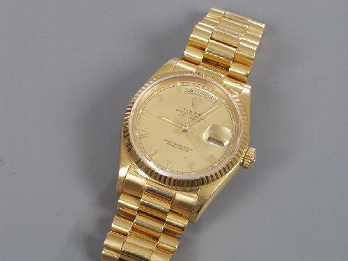 2066: ROLEX - a gentleman's 18ct yellow gold