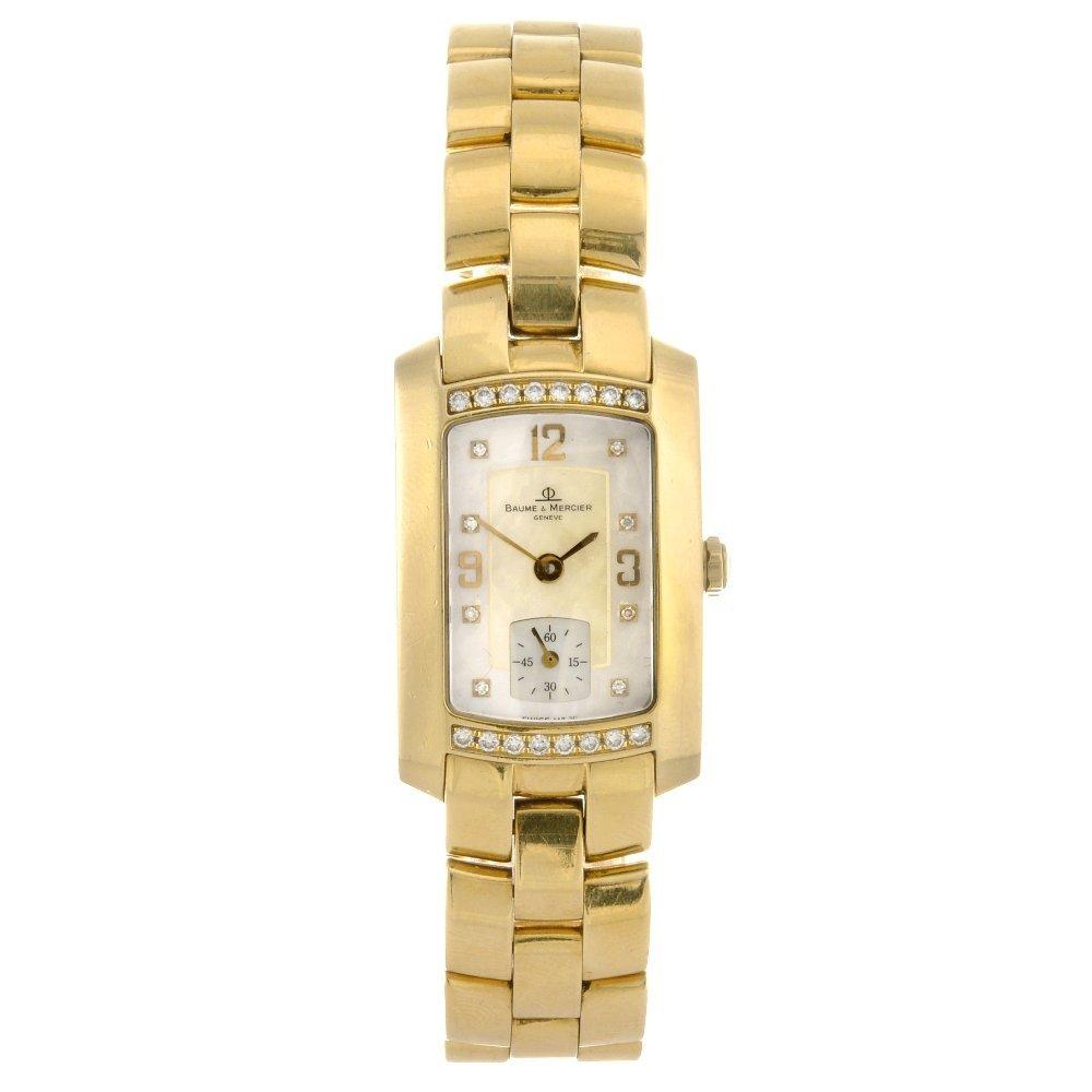 An 18k gold quartz gentleman's Baume & Mercier Hampton