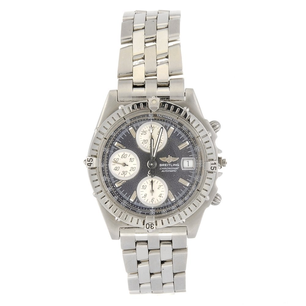 A stainless steel automatic gentleman's Breitling Chron