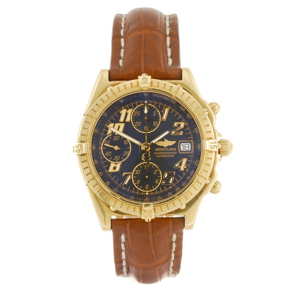 (104456) A 18k gold automatic chronograph gentleman's B