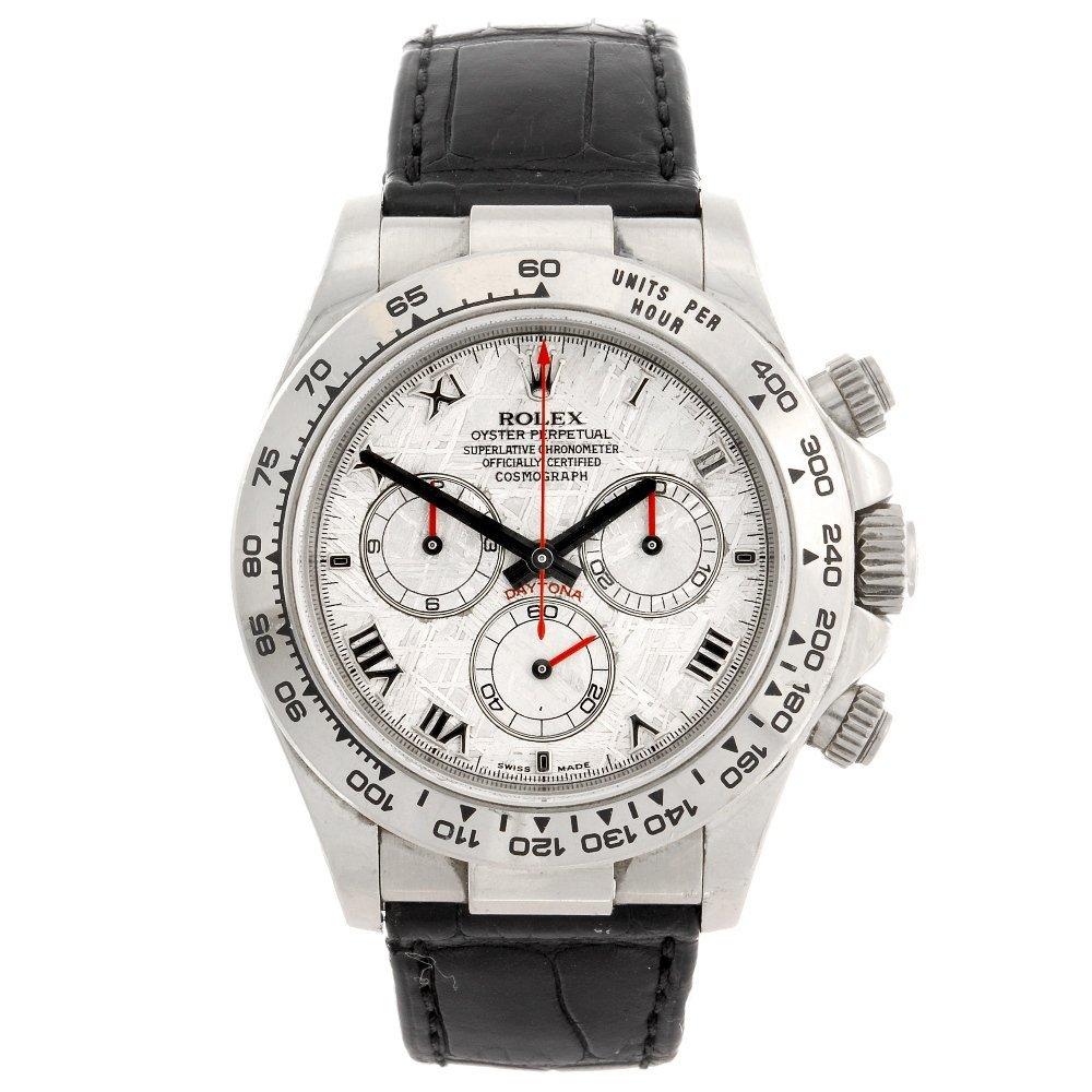 (99333) An 18k white gold automatic chronograph gentlem