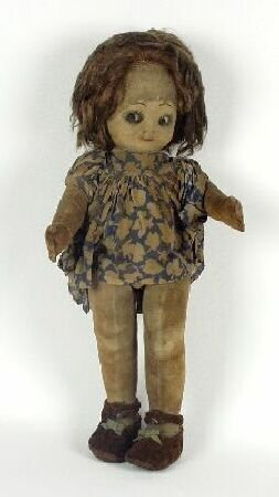 2008: A Chad Valley felt doll, with inset eye