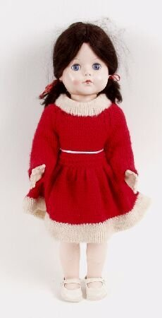 2011: A 1950s hard plastic walking doll, with