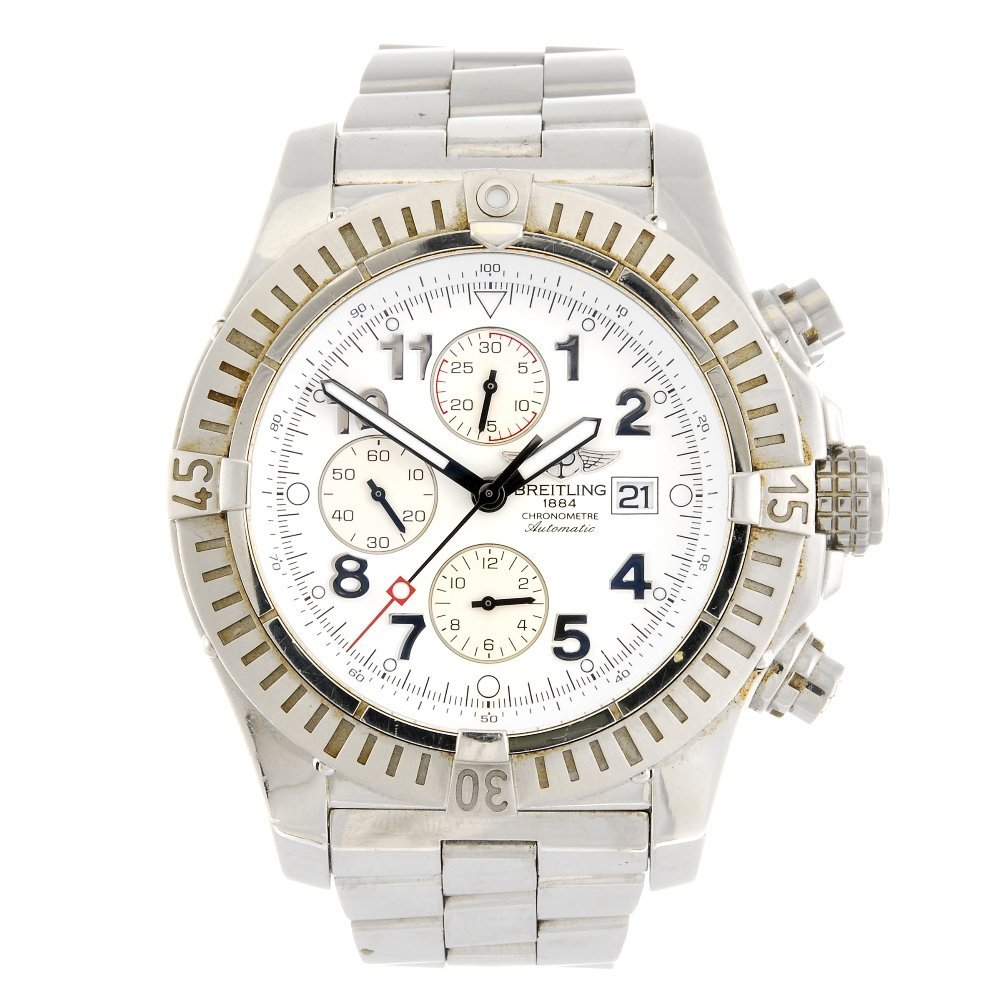 (114953) A stainless steel automatic chronograph gentle