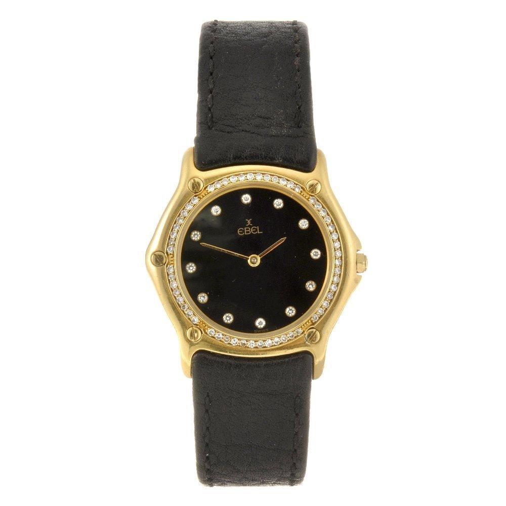 An 18k gold quartz lady's Ebel wrist watch.