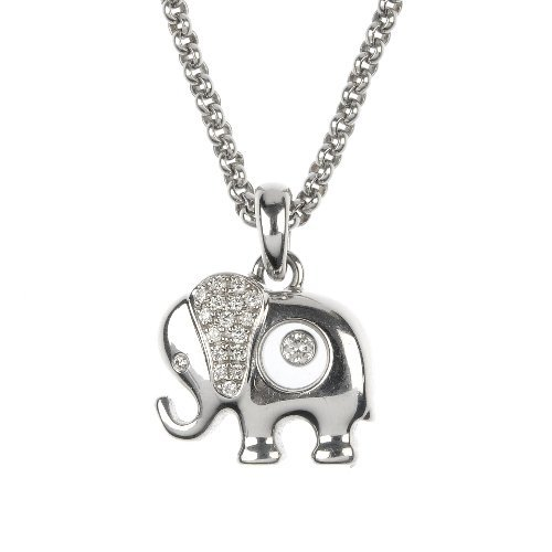 CHOPARD - a 'Happy Diamonds' elephant pendant.