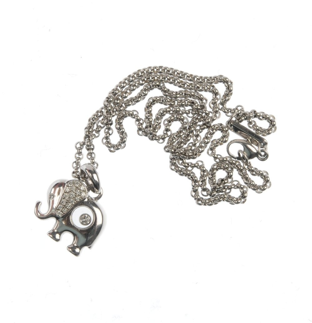 CHOPARD - a 'Happy Diamonds' elephant pendant. - 3