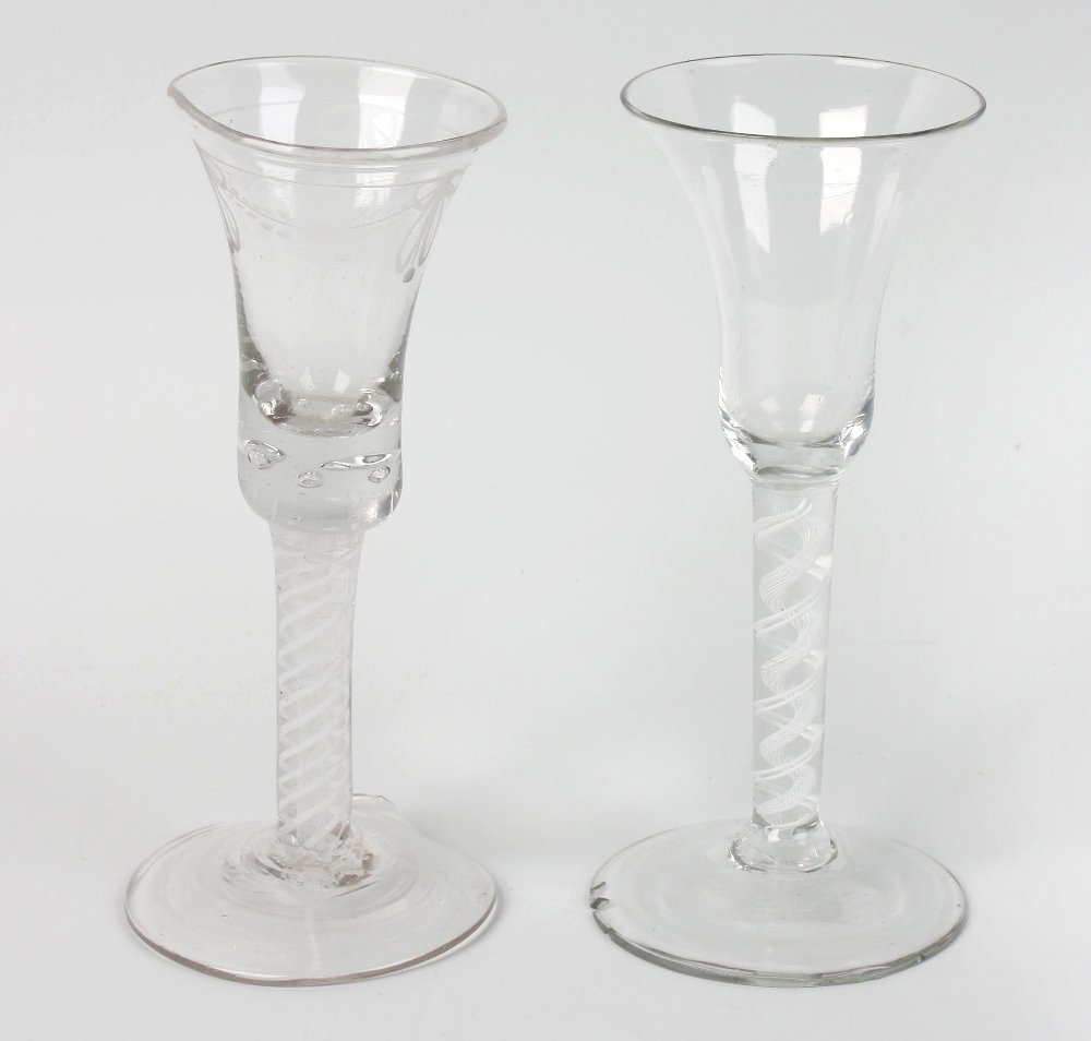 Two ale glasses