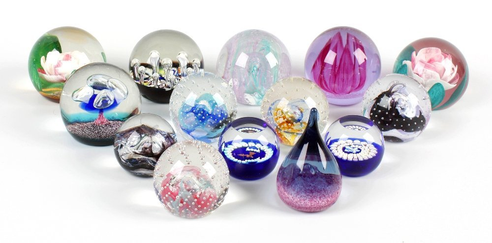Fifteen Caithness glass paperweights