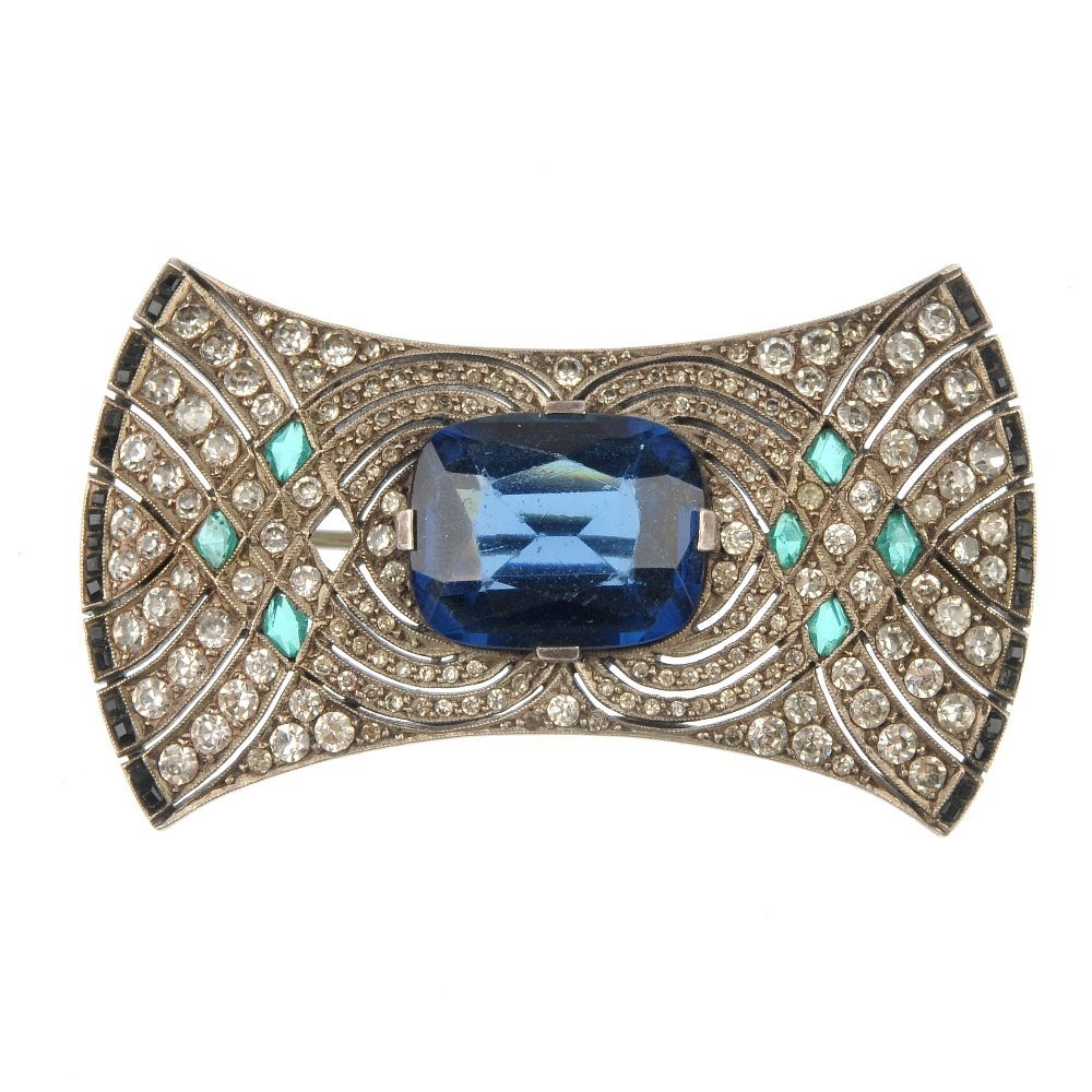 A mid 20th century paste brooch.