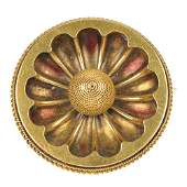A late Victorian 18ct gold brooch