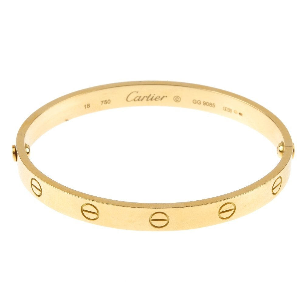 CARTIER - an 18ct gold 'Love' bangle.