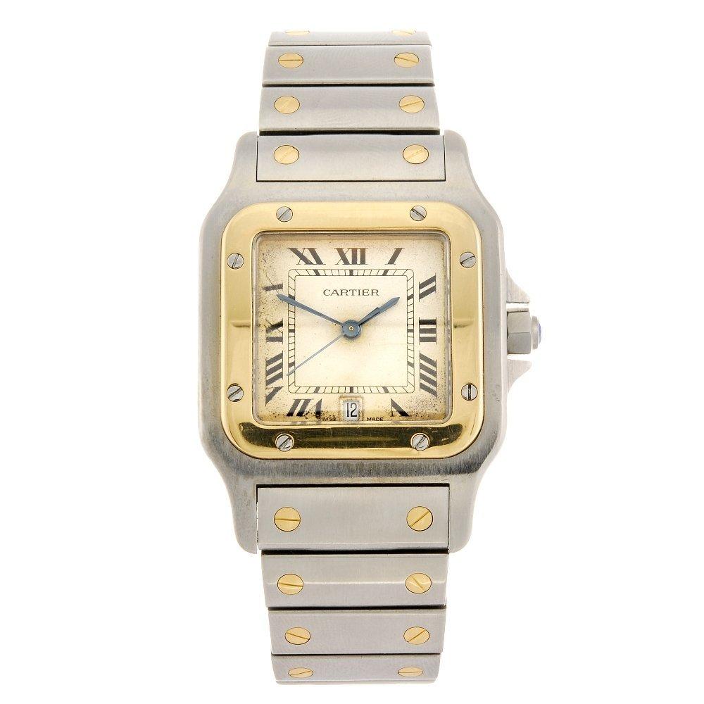 (054062) A bi-metal quartz Cartier Santos bracelet watc