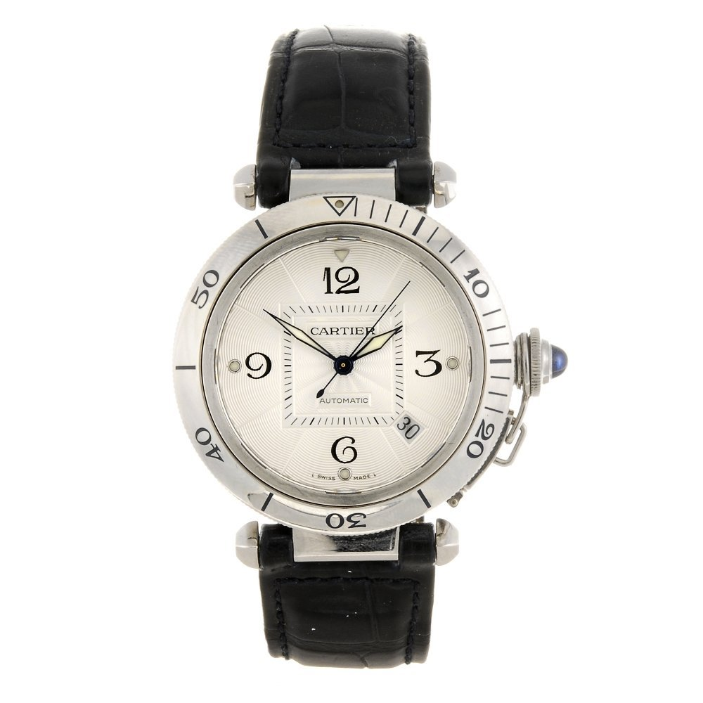 (413016510) A stainless steel automatic Cartier Pasha w