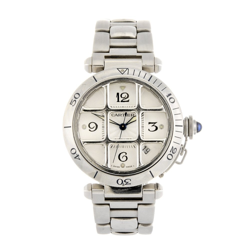 (811006866) A stainless steel automatic Cartier Pasha b