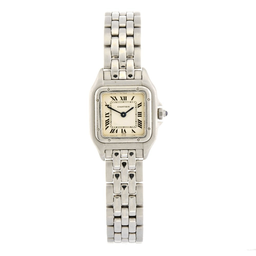 (941001199) A stainless steel quartz Cartier Panthere b