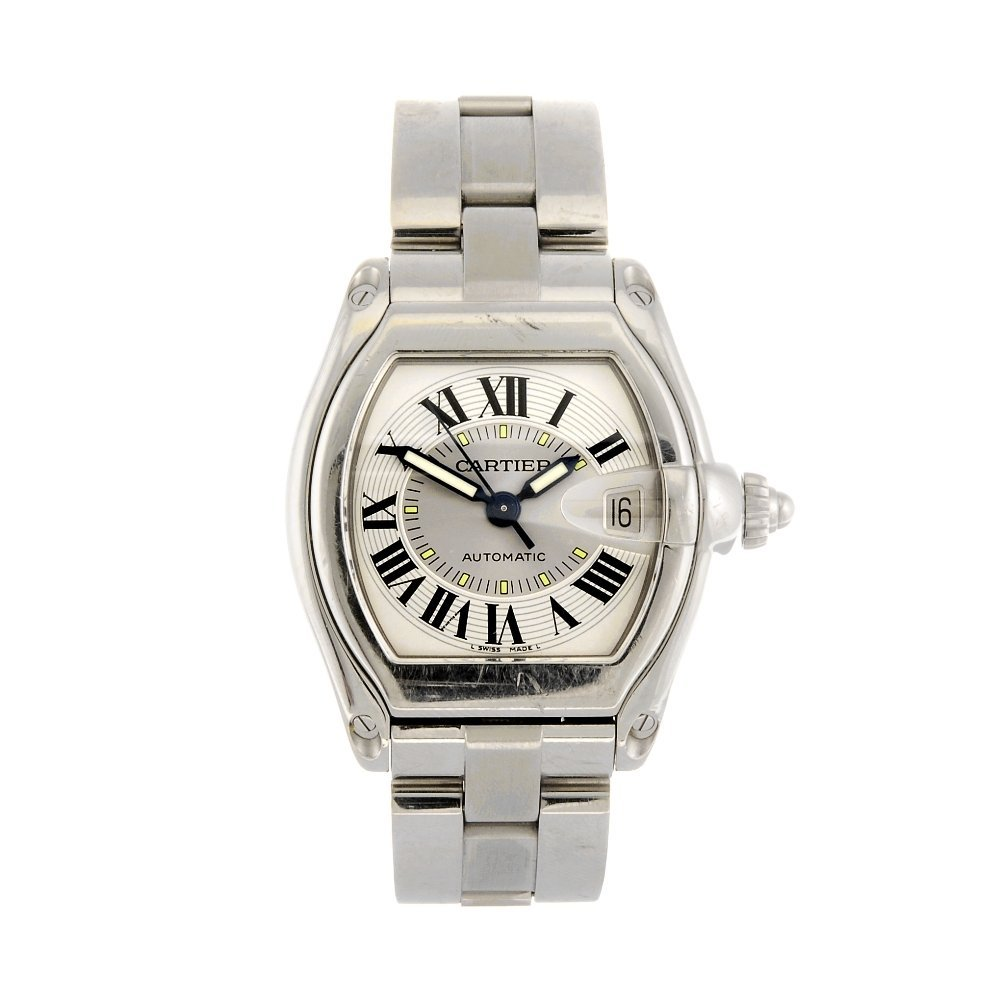(110108471) A stainless steel automatic Cartier Roadste
