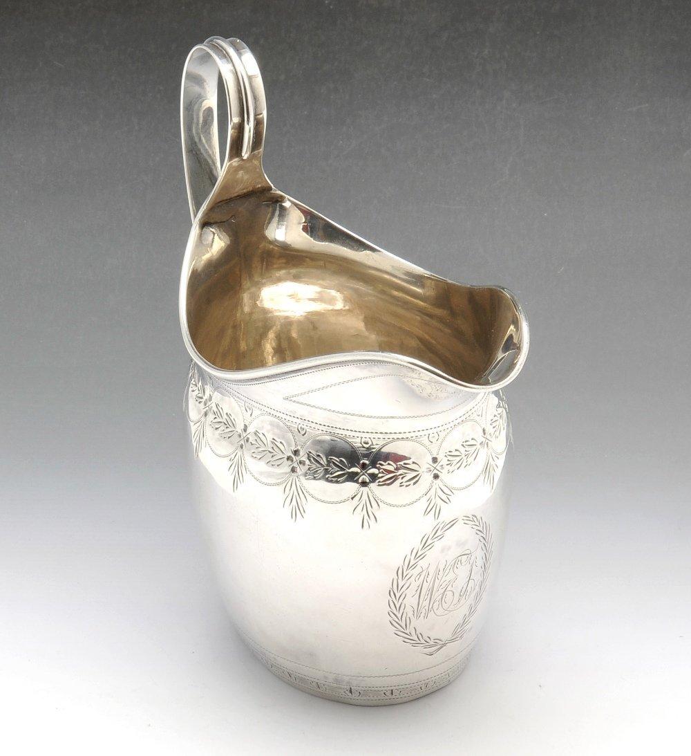 An early nineteenth century silver cream jug.