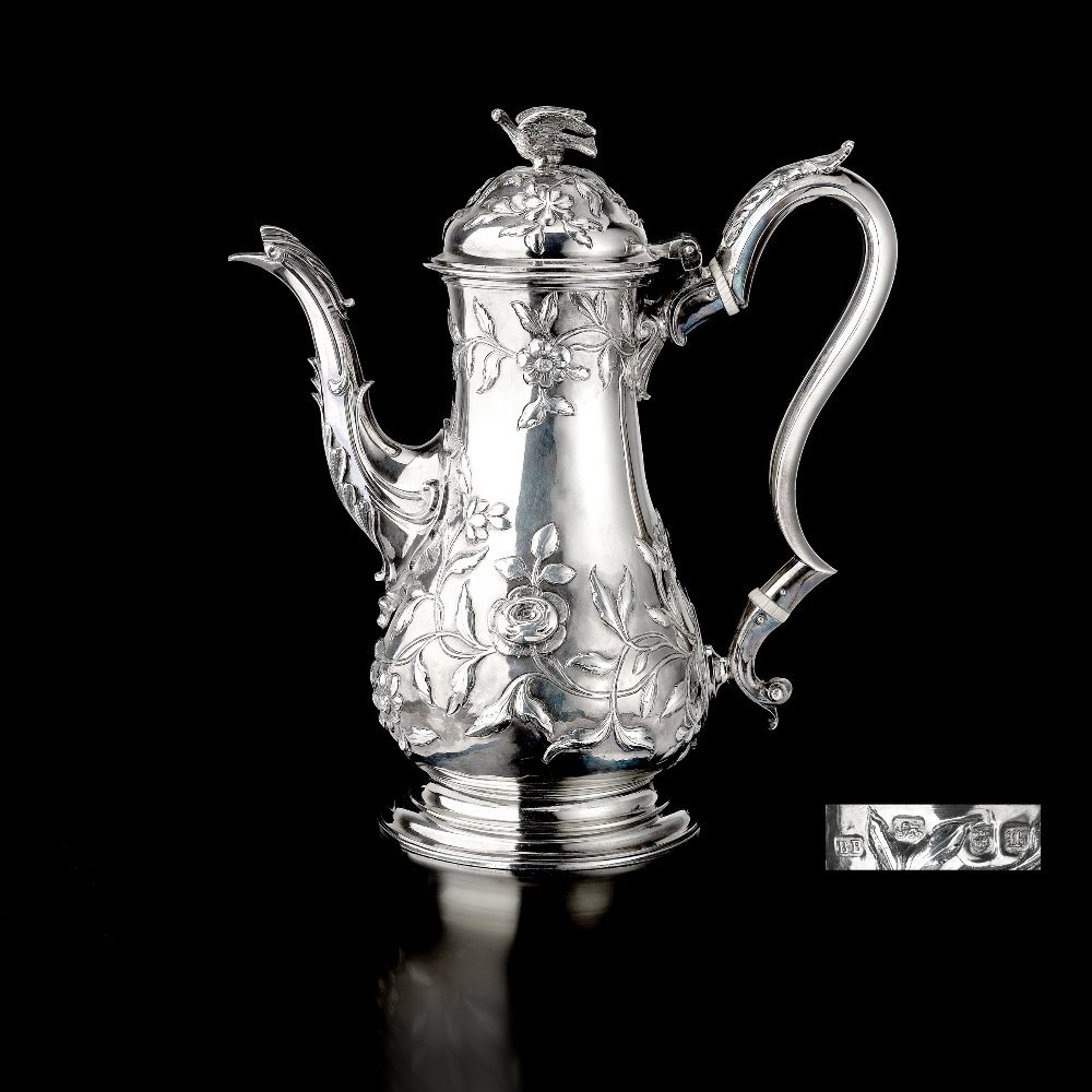 An early George III coffee pot with early 19th century
