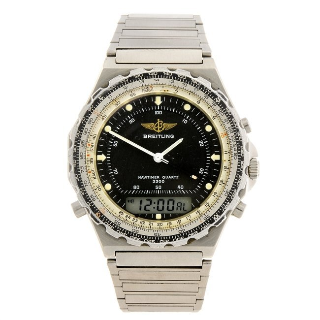 (50984) A stainless steel quartz gentleman's Breitling
