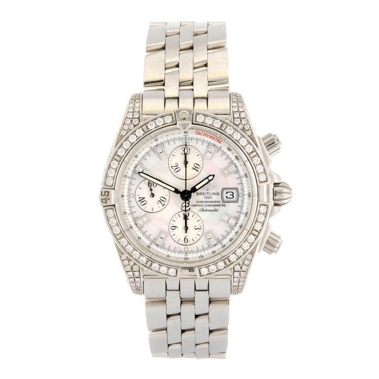 (119071) A stainless steel automatic chronograph
