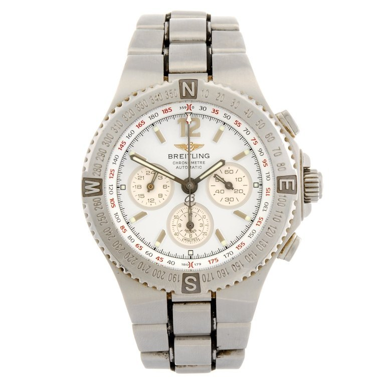 (120156328) A stainless steel automatic chronograph