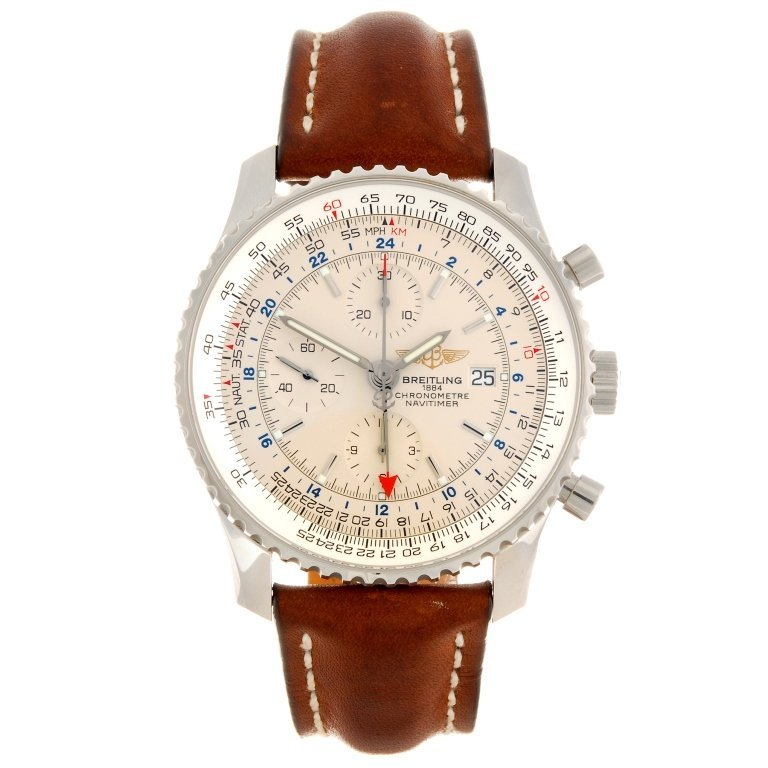 (609025115) A stainless steel automatic chronograph