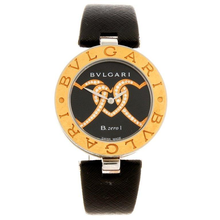 (119395) A bi-metal quartz lady's Bulgari B.zero1 wrist