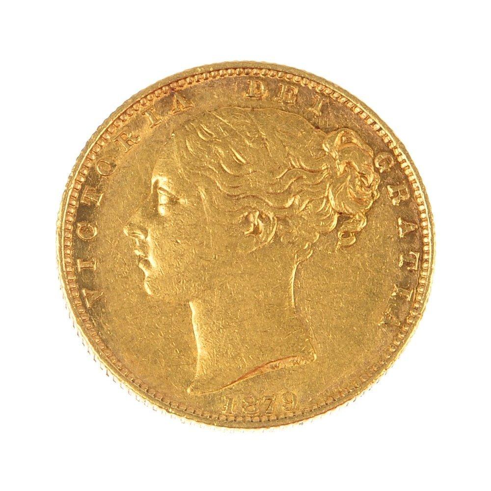 Victoria, Sovereign 1879S.