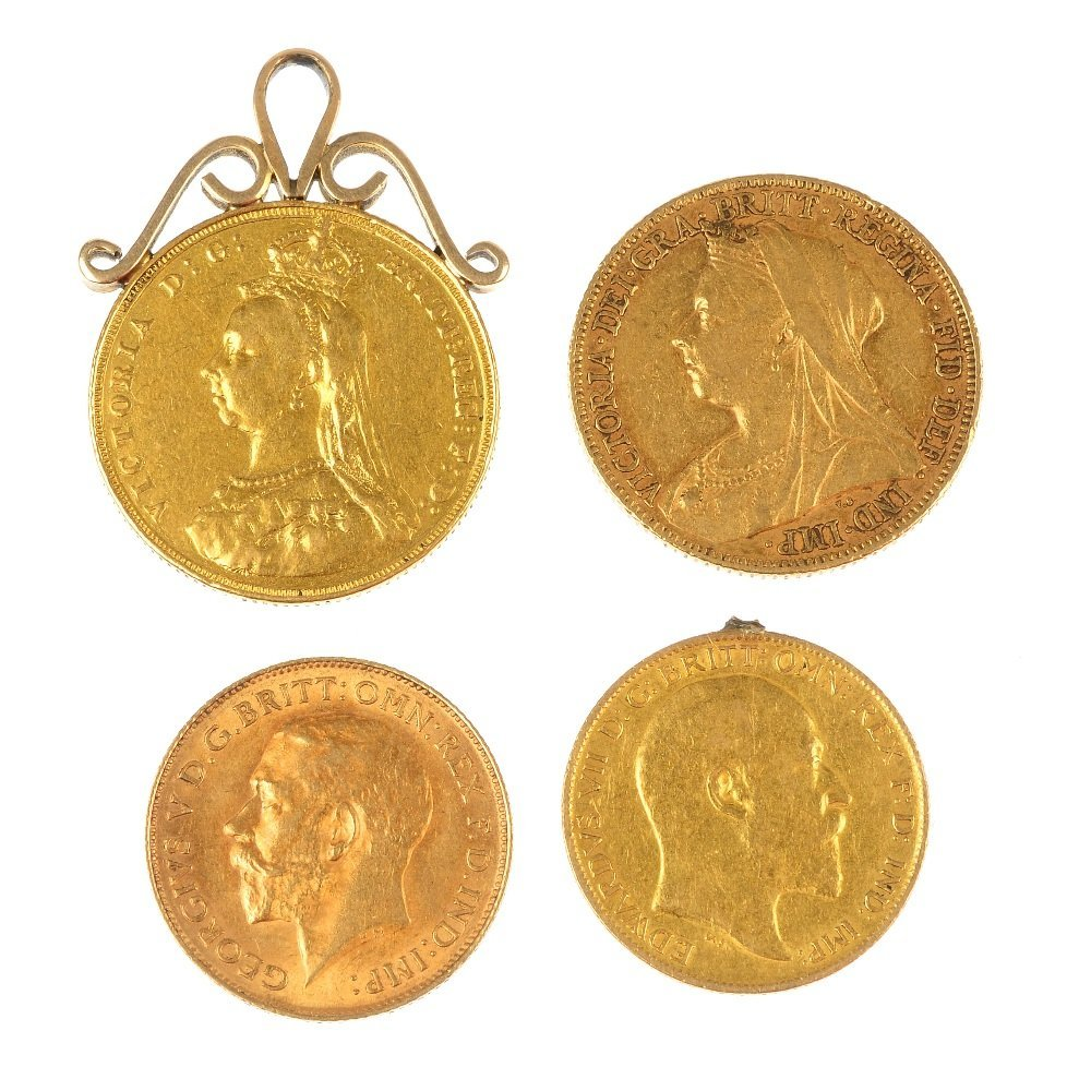 Victoria to George V, Sovereigns & Half-Sovereigns.