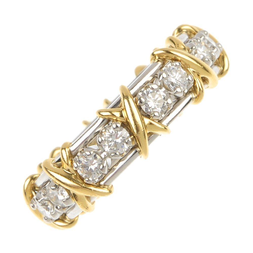 TIFFANY & CO. - a diamond eternity ring, by 'Schlumberg