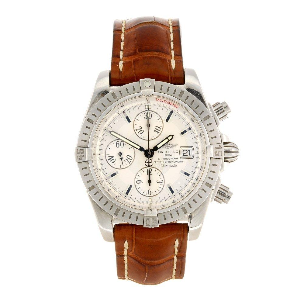 (87132) A stainless steel chronograph gentleman's Breit