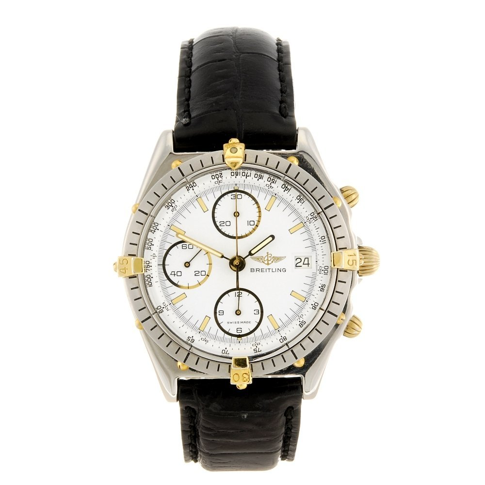 (121495) A stainless steel automatic chronograph gentle