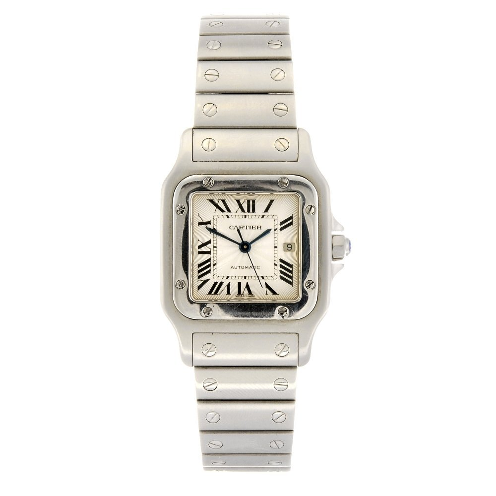 (940001671) A stainless steel automatic Cartier Santos