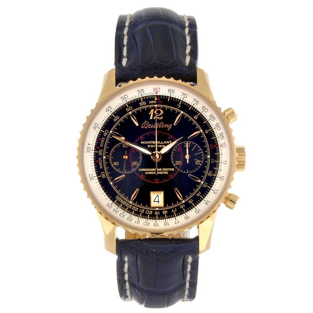An 18k gold manual wind chronograph gentleman's