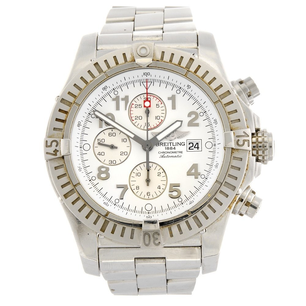 A stainless steel automatic chronograph gentleman's