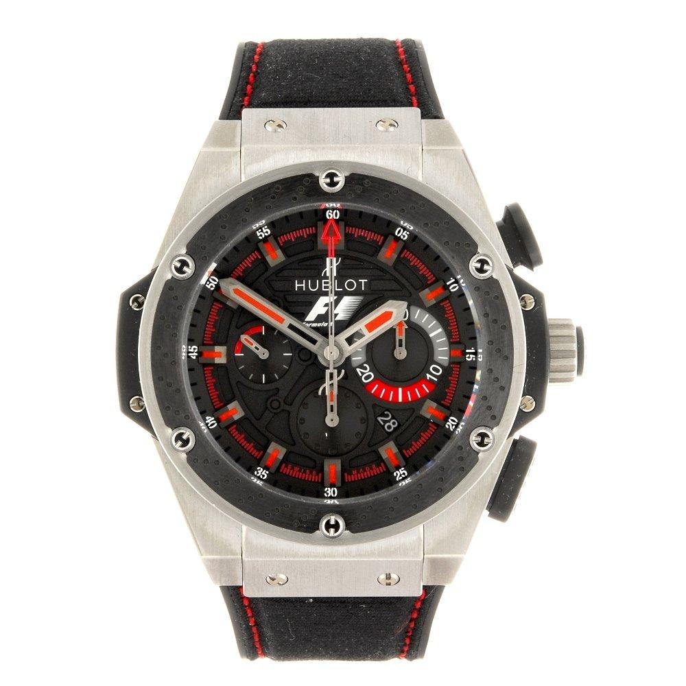 A bi-material automatic chronograph gentleman's Hublot
