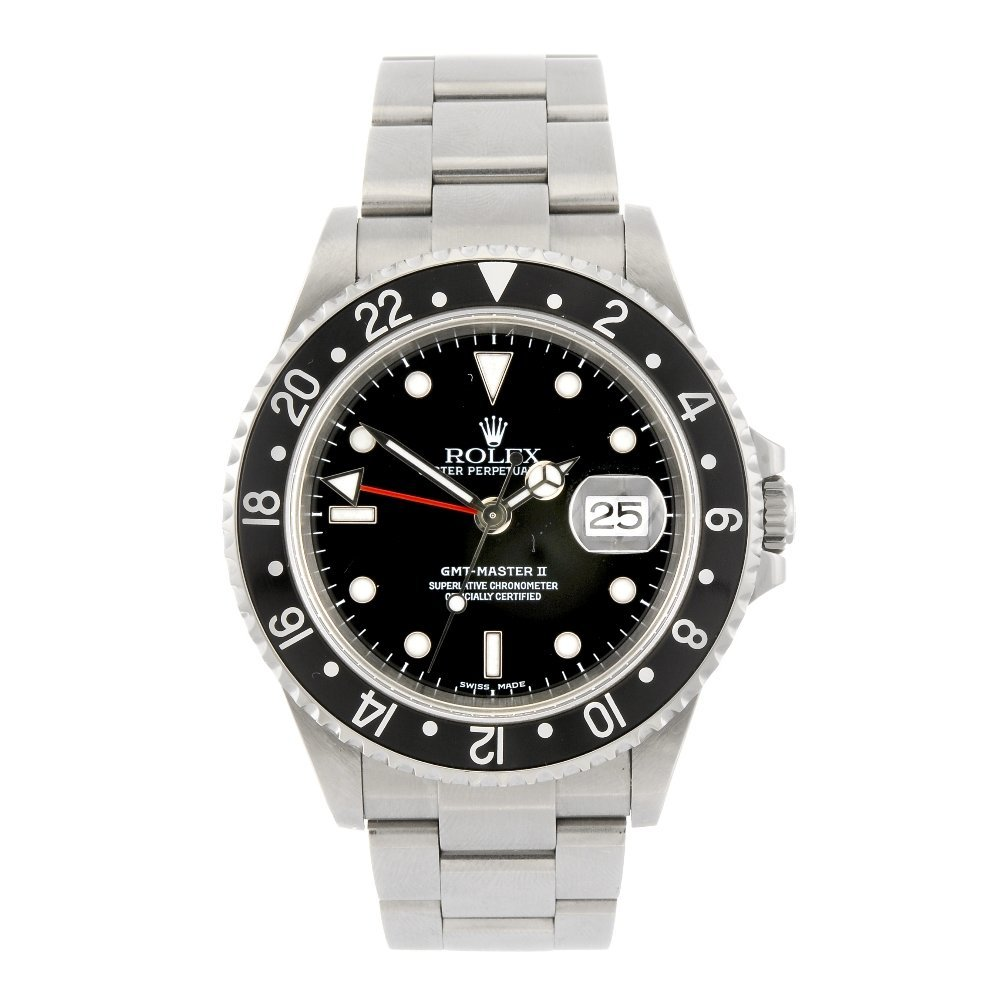 A stainless steel automatic gentleman's Rolex GMT