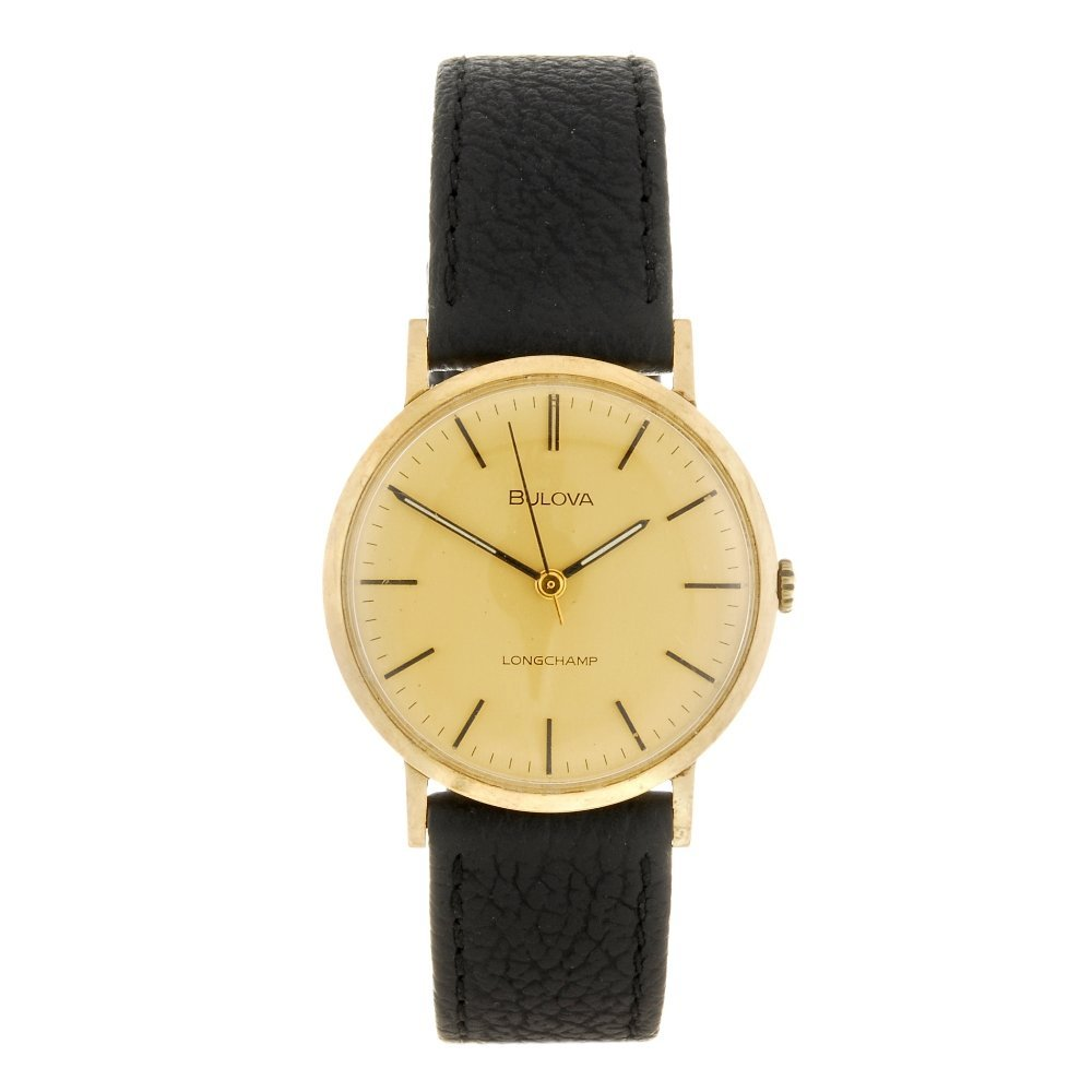 A 9k gold manual wind gentleman's Bulova Longchamp
