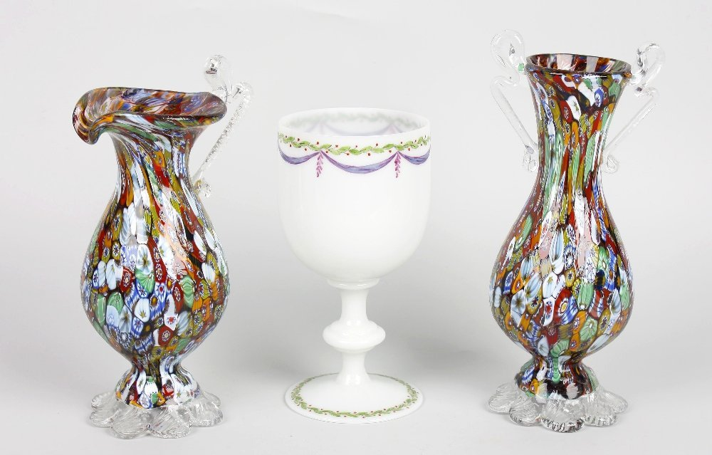 A small collection of glassware
