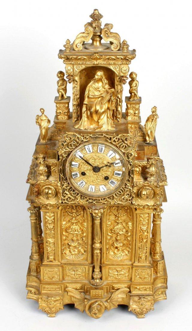 A good 19th century French ormolu mantel clock