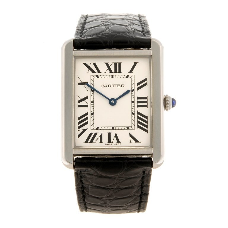 (701014173) A stainless steel quartz Cartier Tank Solo