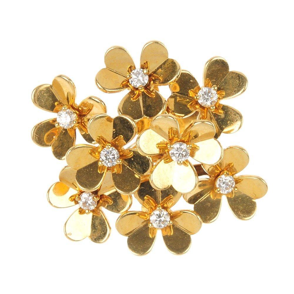 VAN CLEEF & ARPELS - a diamond 'Frivole' ring.
