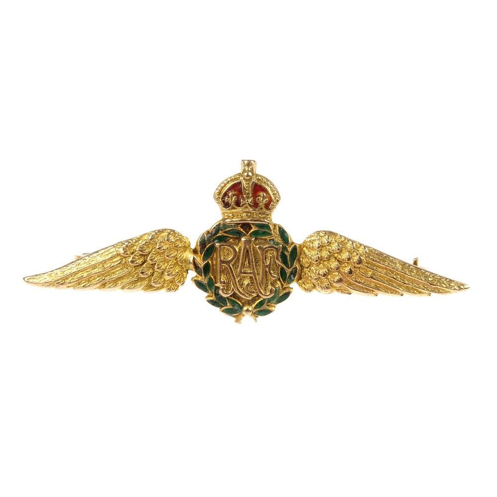 A mid 20th century enamel RAF regimental brooch.