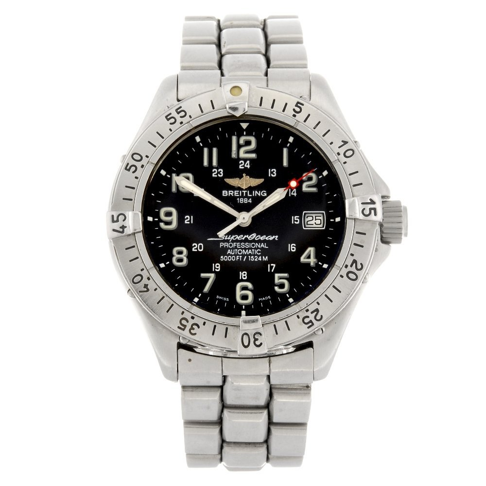 A stainless steel automatic gentleman's Breitling Super