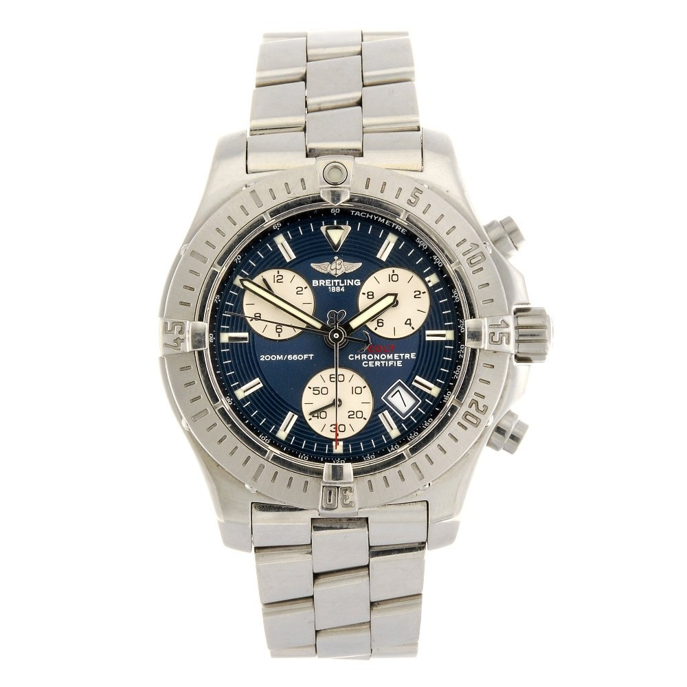 (938001765) A stainless steel quartz chronograph gentle