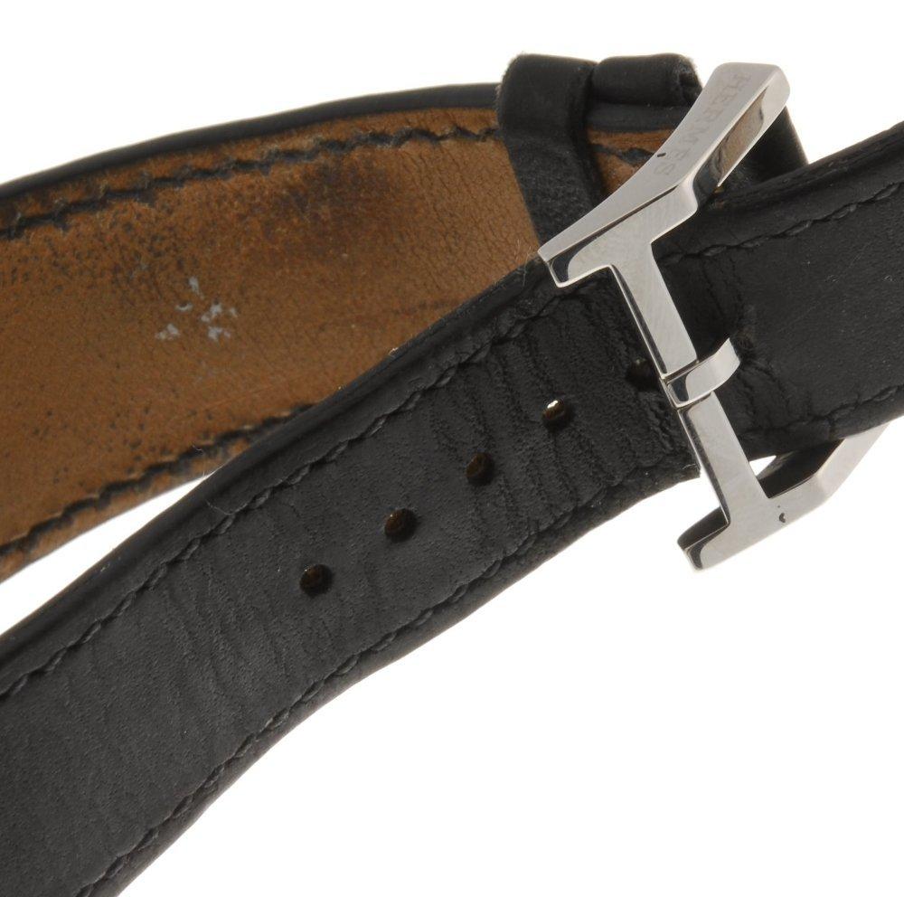 A stailess steel quartz gentleman's Hermes Tandem wrist - 4