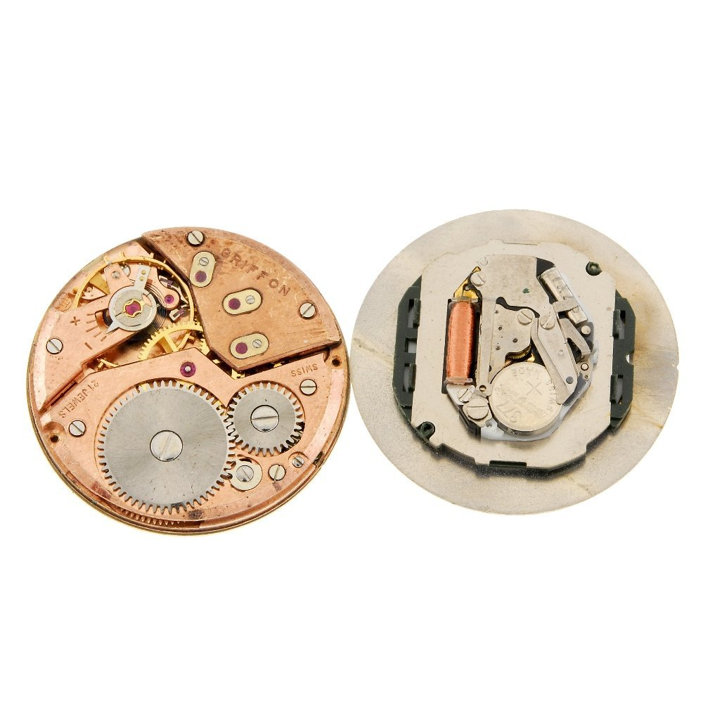 A bag of assorted watch movements.