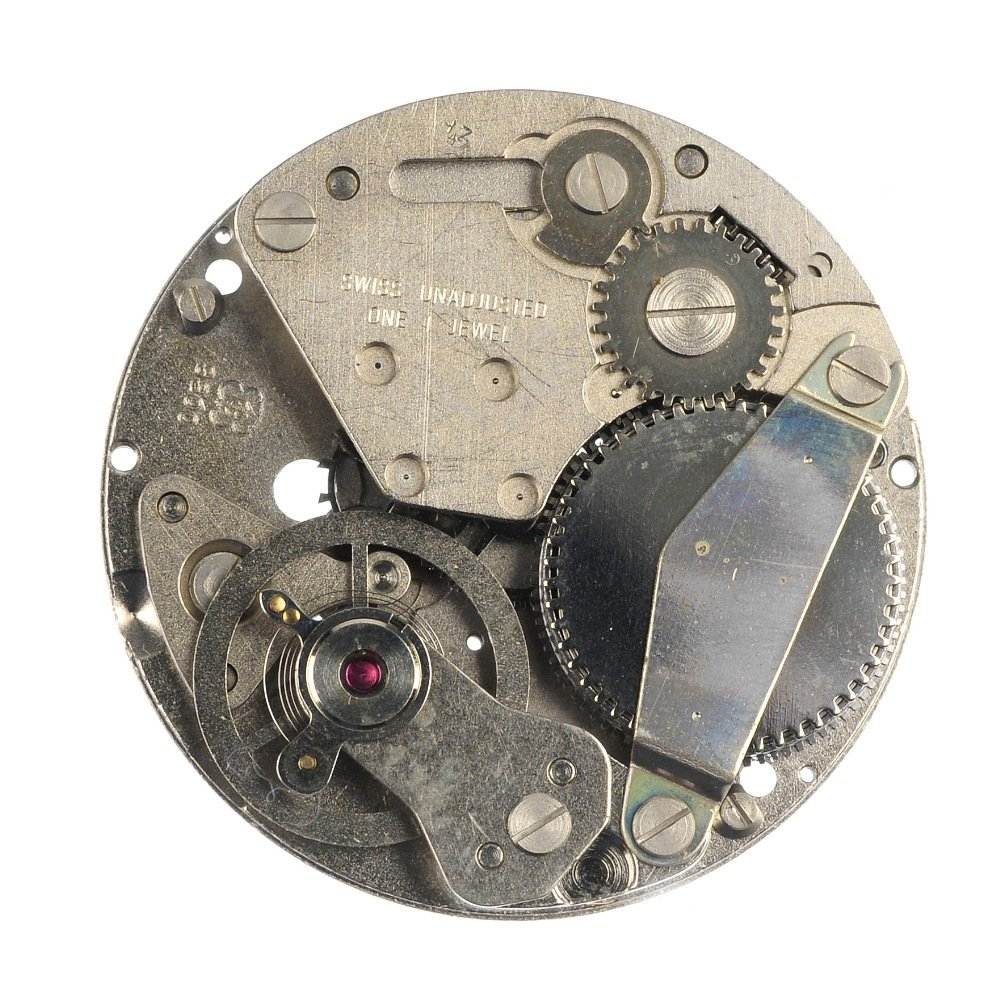 A group of approximately 45 watch movements.