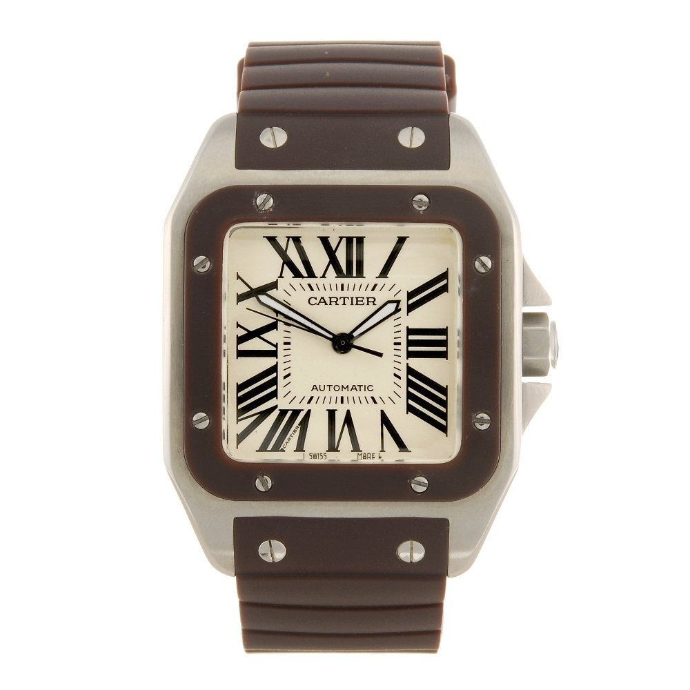 A stainless steel automatic gentleman's Cartier Santos